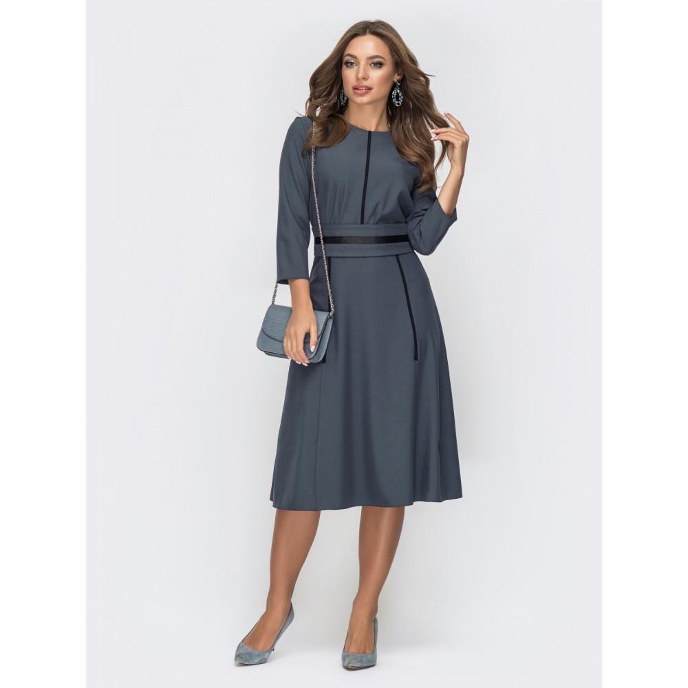 Загадкова сукня з репсовою стрічкою фото 1
