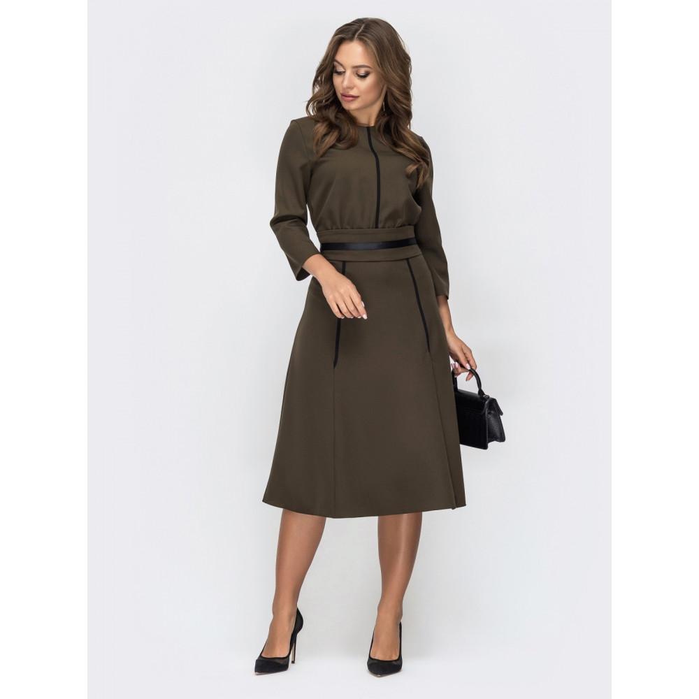 Комфортное платье с репсовой лентой фото 1