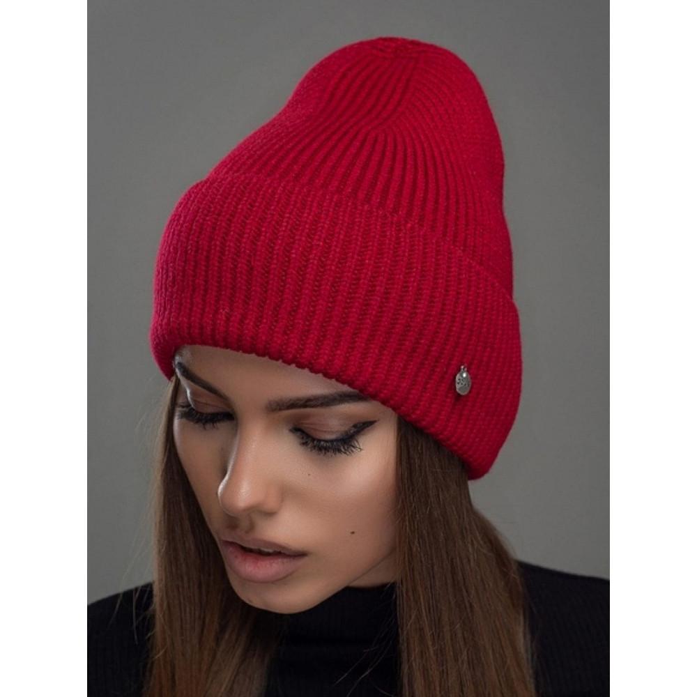 Красная женская шапка Остров  фото 1