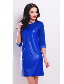 Ярко-синее комбинированное платье Рута