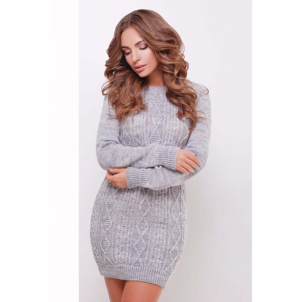 Вязаное платье-туника фото 1
