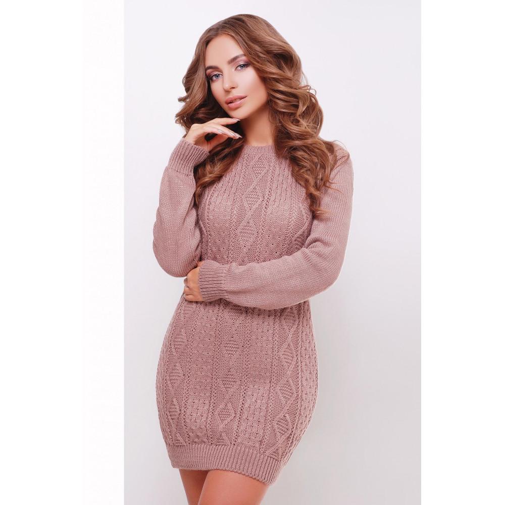 Женское вязаное платье-туника фото 1