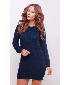 Темно-синее платье-туника