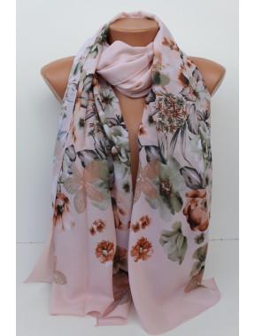 Милый шарф Шери в цветы
