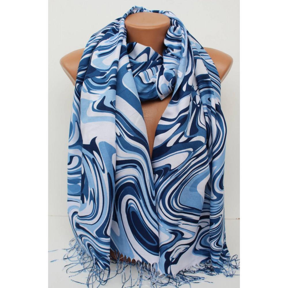 Голубой женский шарф Амура  фото 1