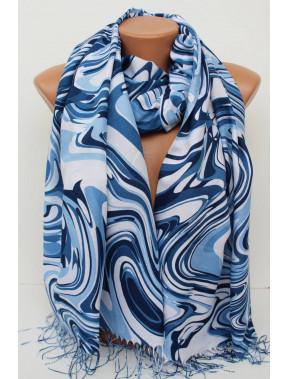 Голубой женский шарф Амура
