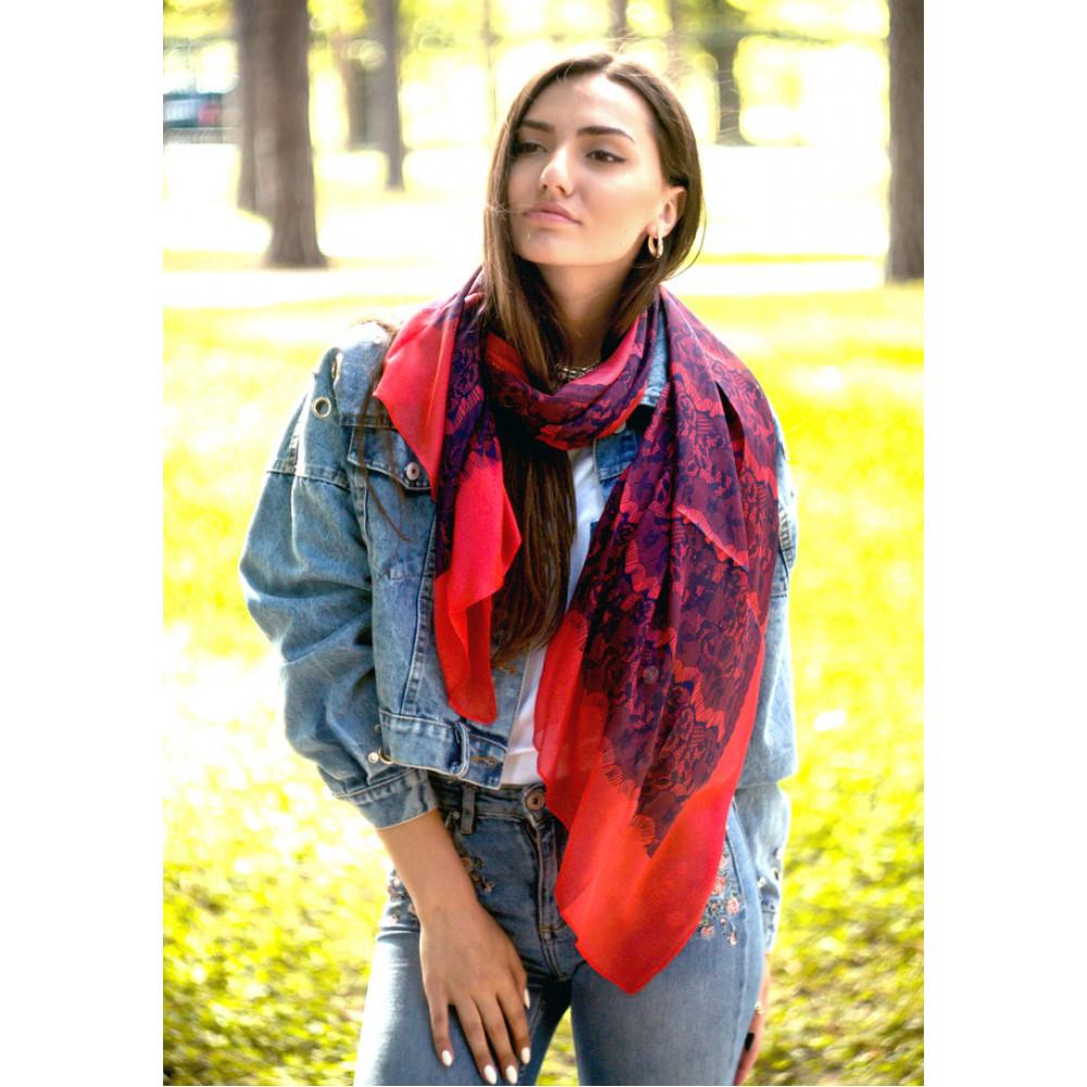 Воздушный шелковый шарф Valentino фото 1