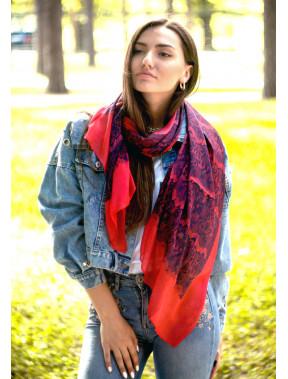 Повітряний шовковий шарф Valentino