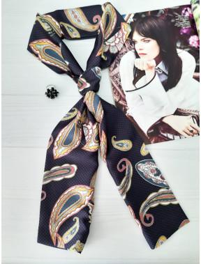 Графитовый шарф-галстук в модный принт