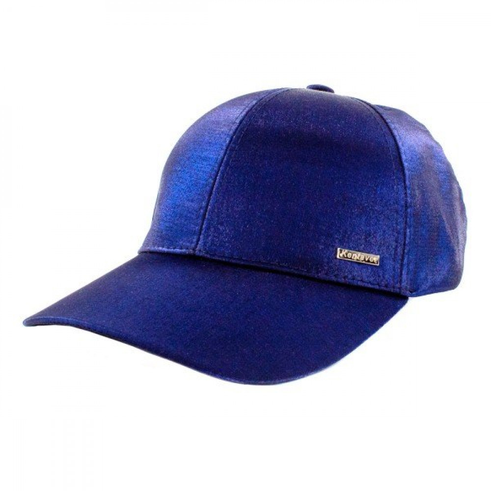Атласная синя бейсболка фото 3