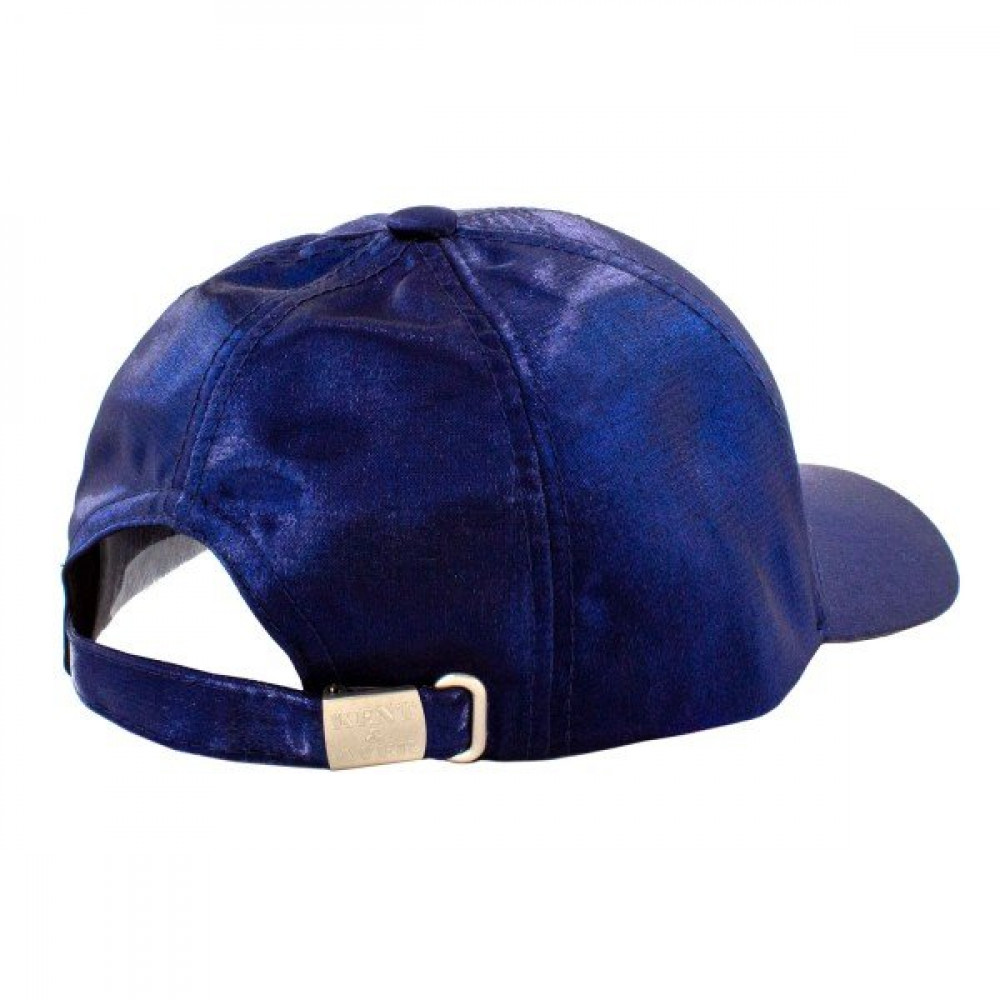 Атласная синя бейсболка фото 2
