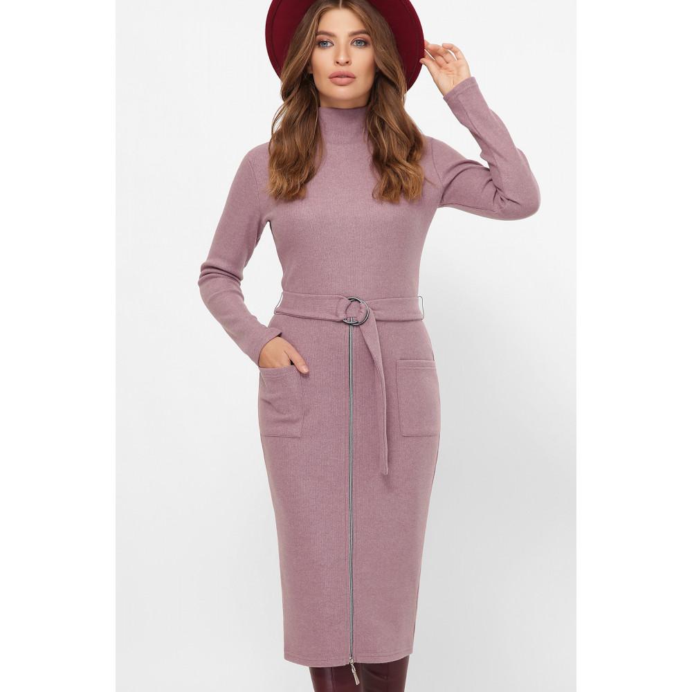 Женственное лиловое платье Виталина фото 2