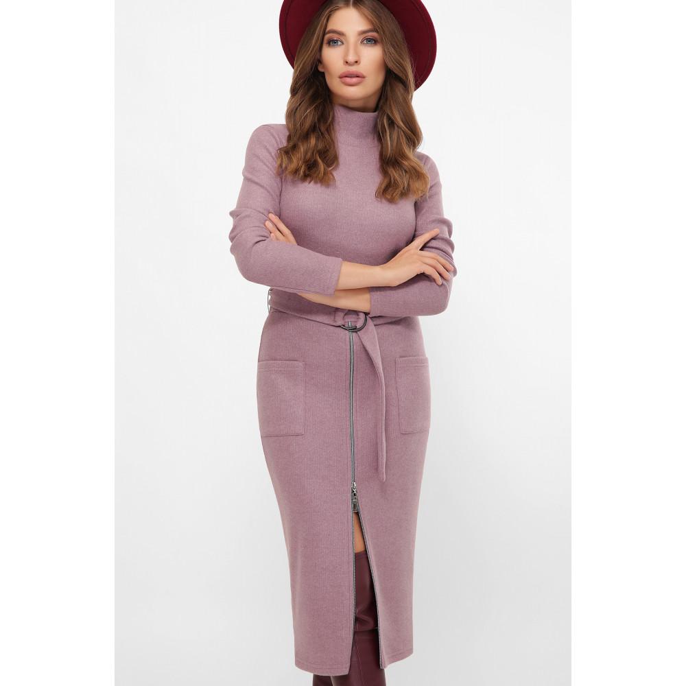 Женственное лиловое платье Виталина фото 3