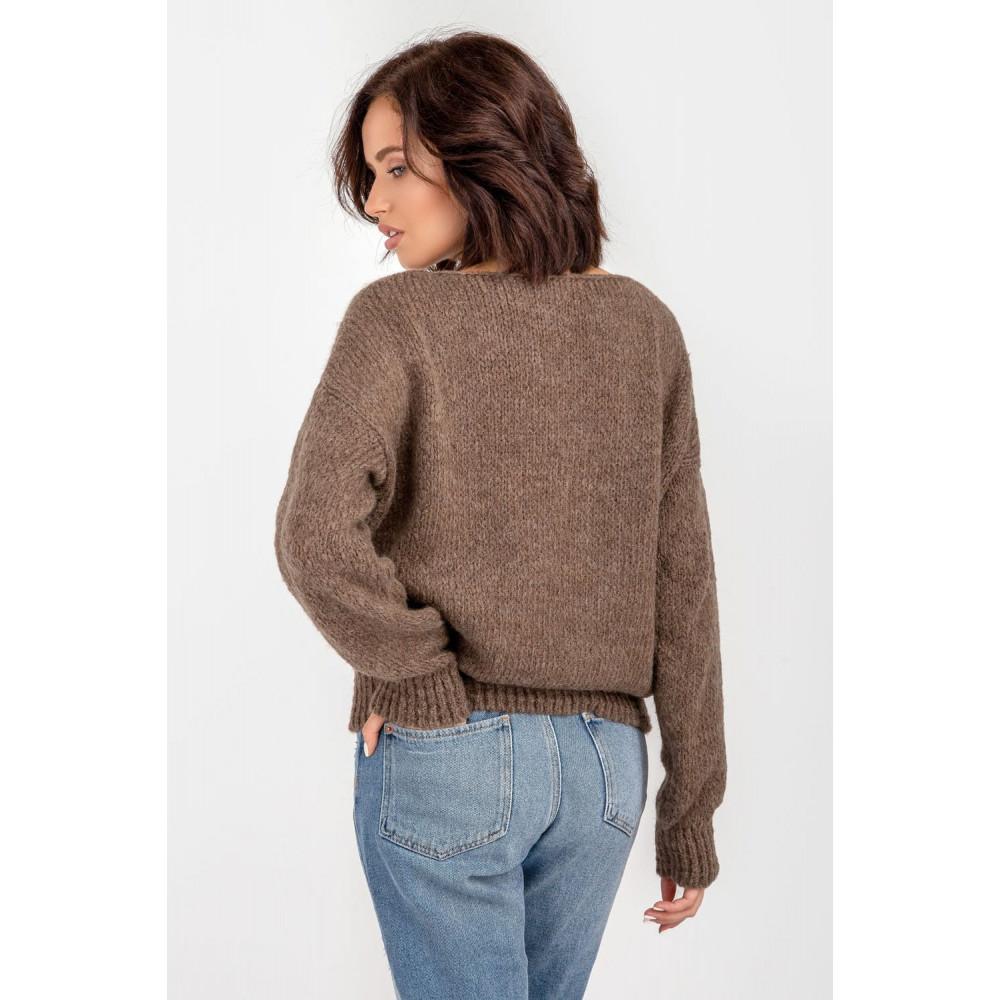 Карамельный пушистый свитер фото 5