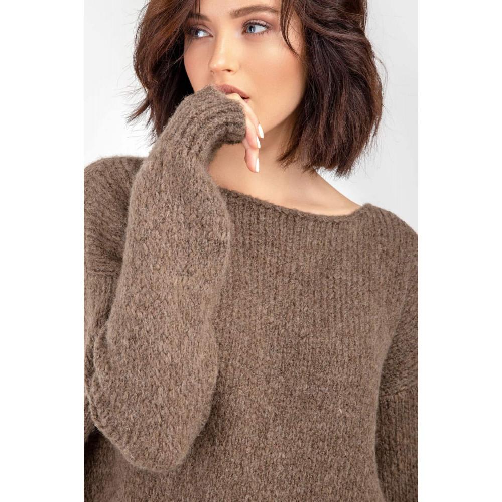 Карамельный пушистый свитер фото 6