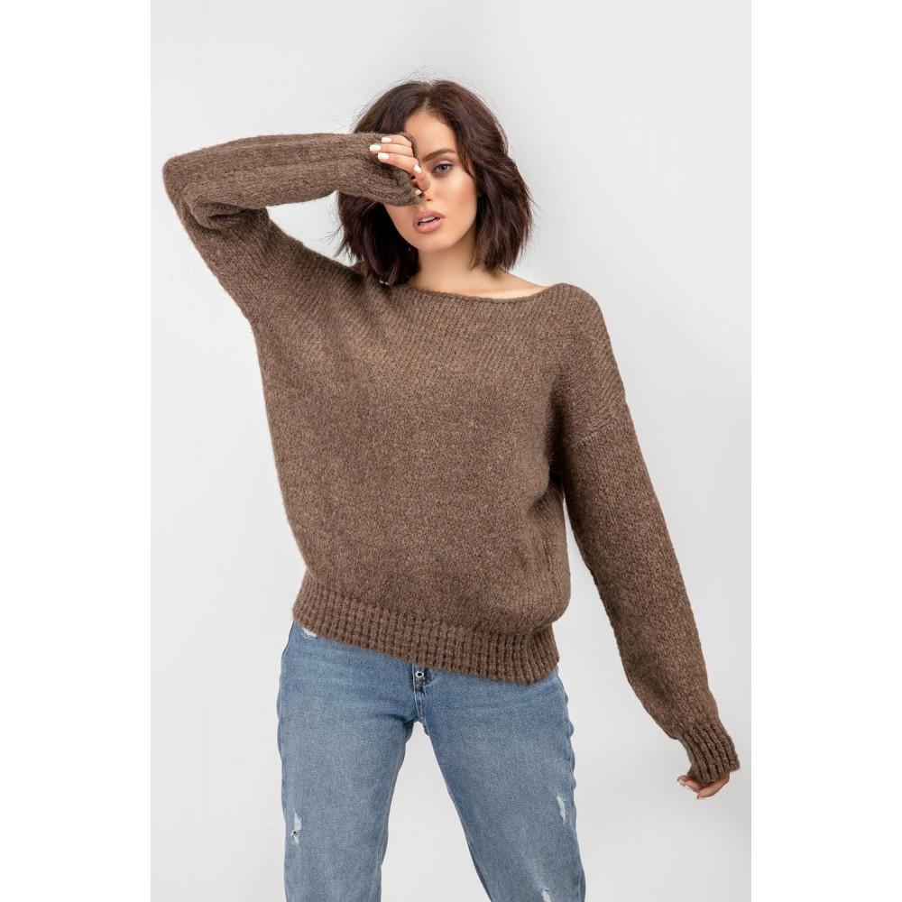 Карамельный пушистый свитер фото 7