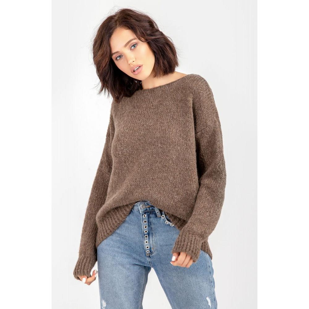 Карамельный пушистый свитер фото 8
