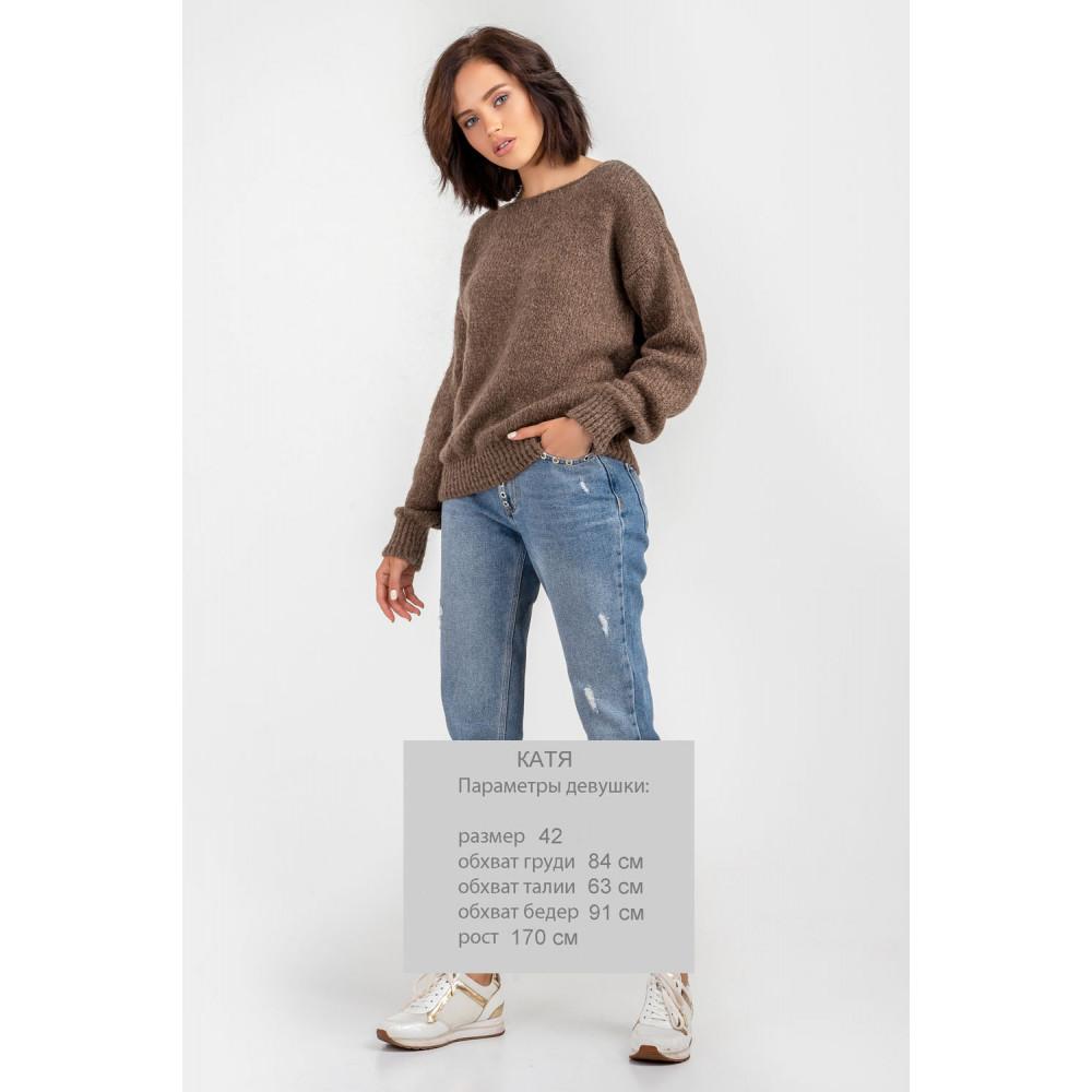 Карамельный пушистый свитер фото 2