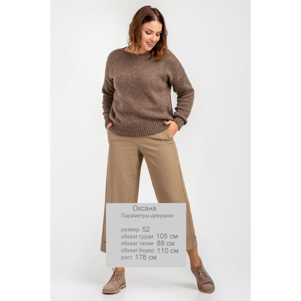Карамельный пушистый свитер фото 3
