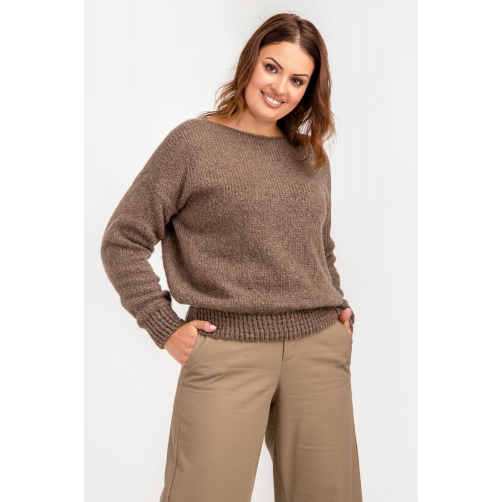 Карамельный пушистый свитер фото 4