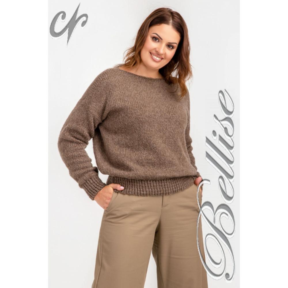 Карамельный пушистый свитер фото 9