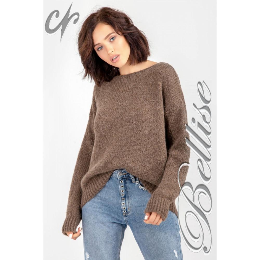 Карамельный пушистый свитер фото 10