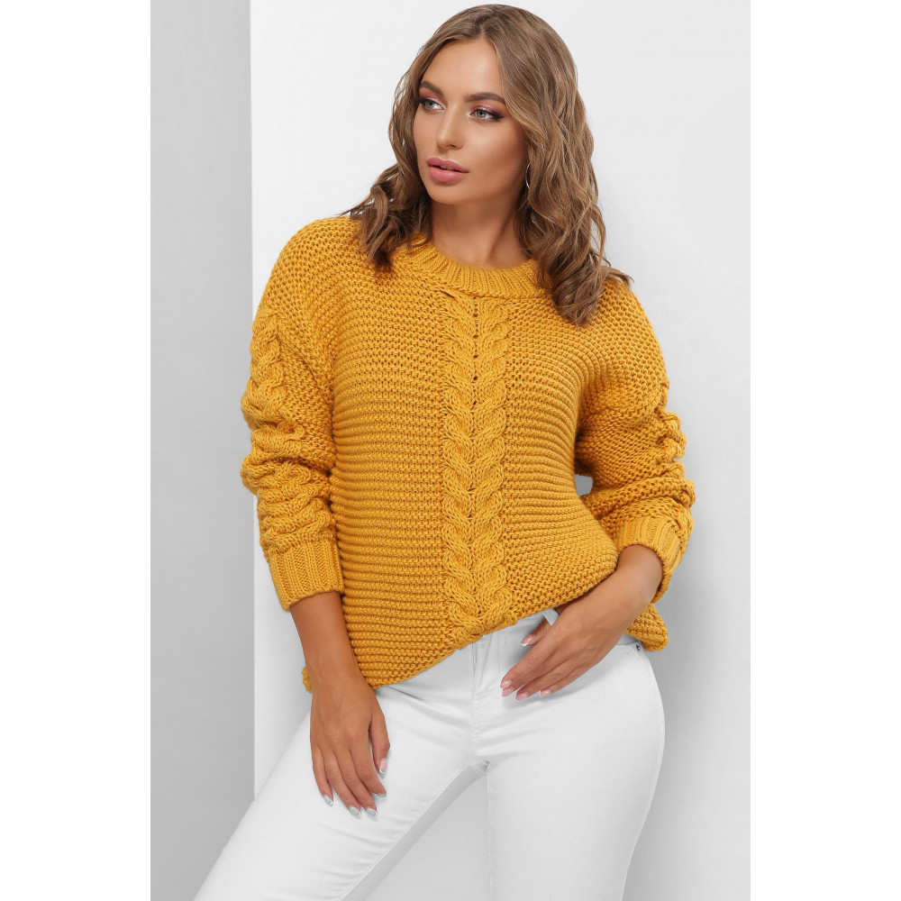 Горчичный теплый свитер Мелиса фото 1