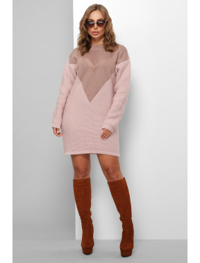 В'язана туніка ніжного рожевого кольору
