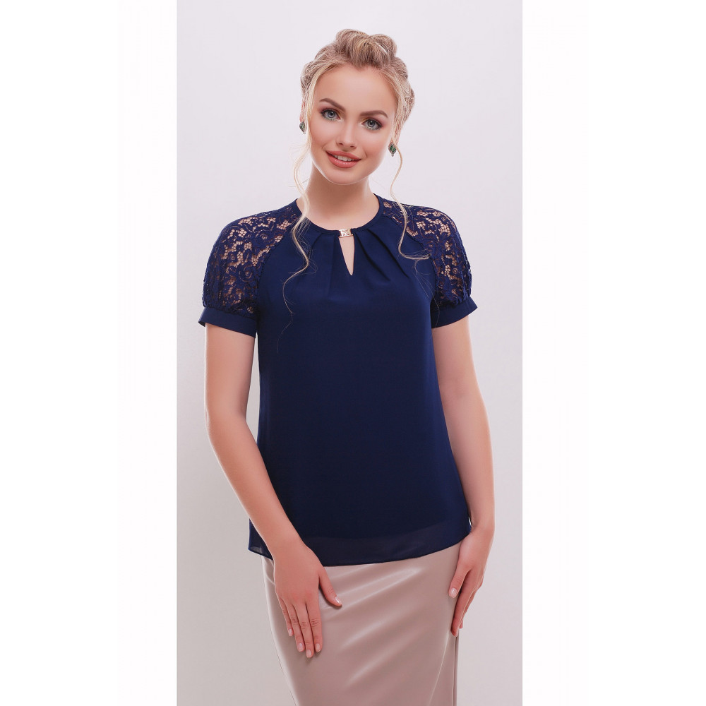 Женственная блузка с кружевом Ильва фото 1