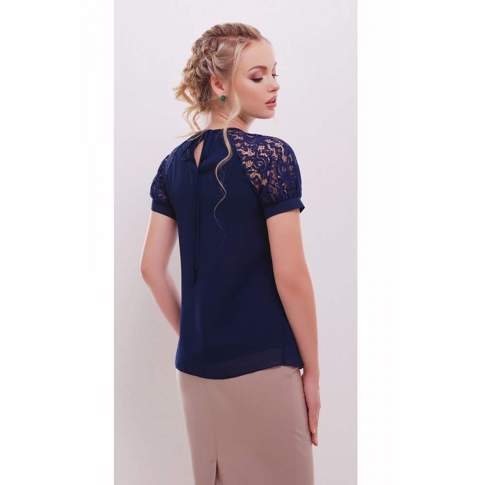 Женственная блузка с кружевом Ильва фото 2
