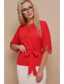 Яркая нарядная блузка с кружевом Карла
