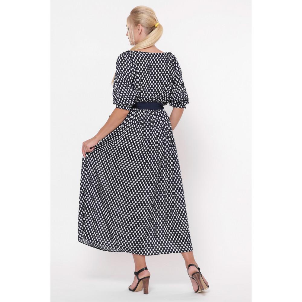 Красивое платье макси в горошек Снежанна фото 4