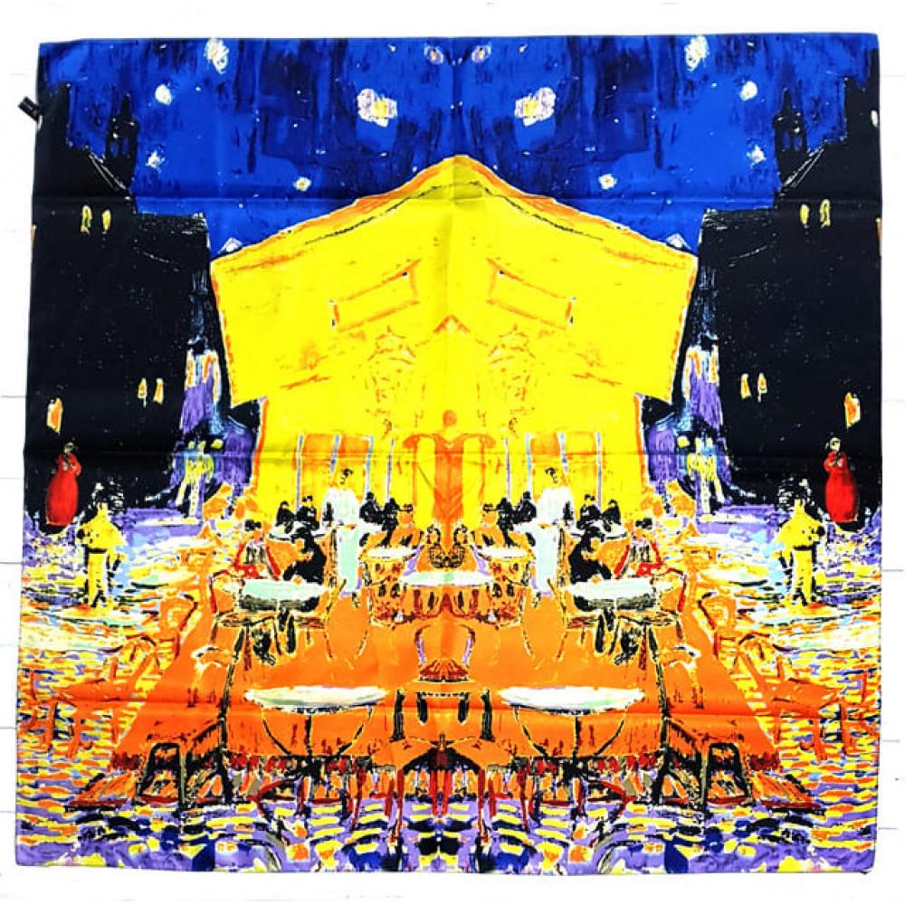 Изысканный платок-картина Ночное кафе фото 1