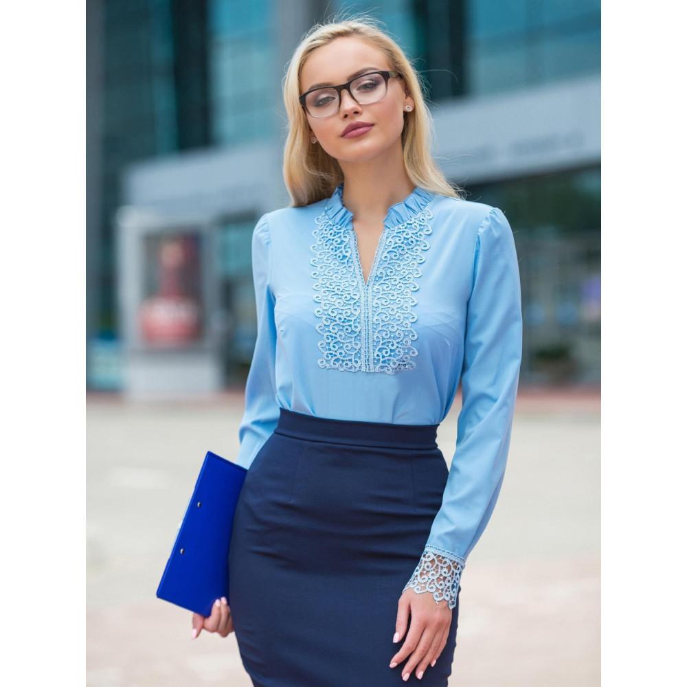 Женственная блузка с кружевом Номи фото 1