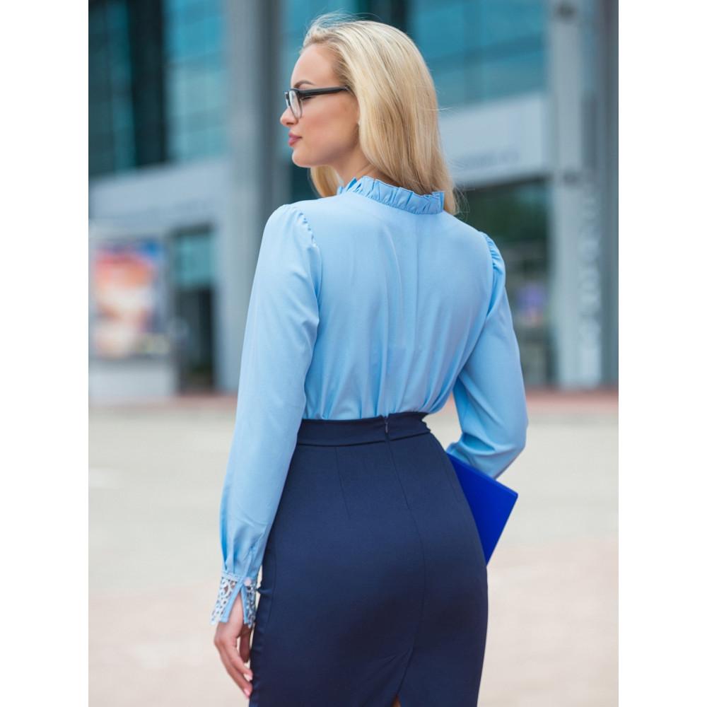 Женственная блузка с кружевом Номи фото 2