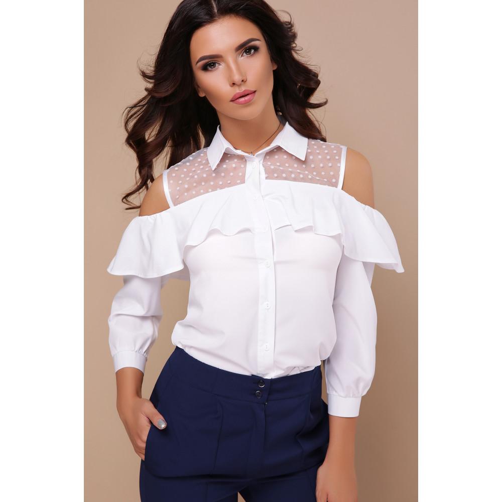 Интересная белая блузка Эрика фото 1