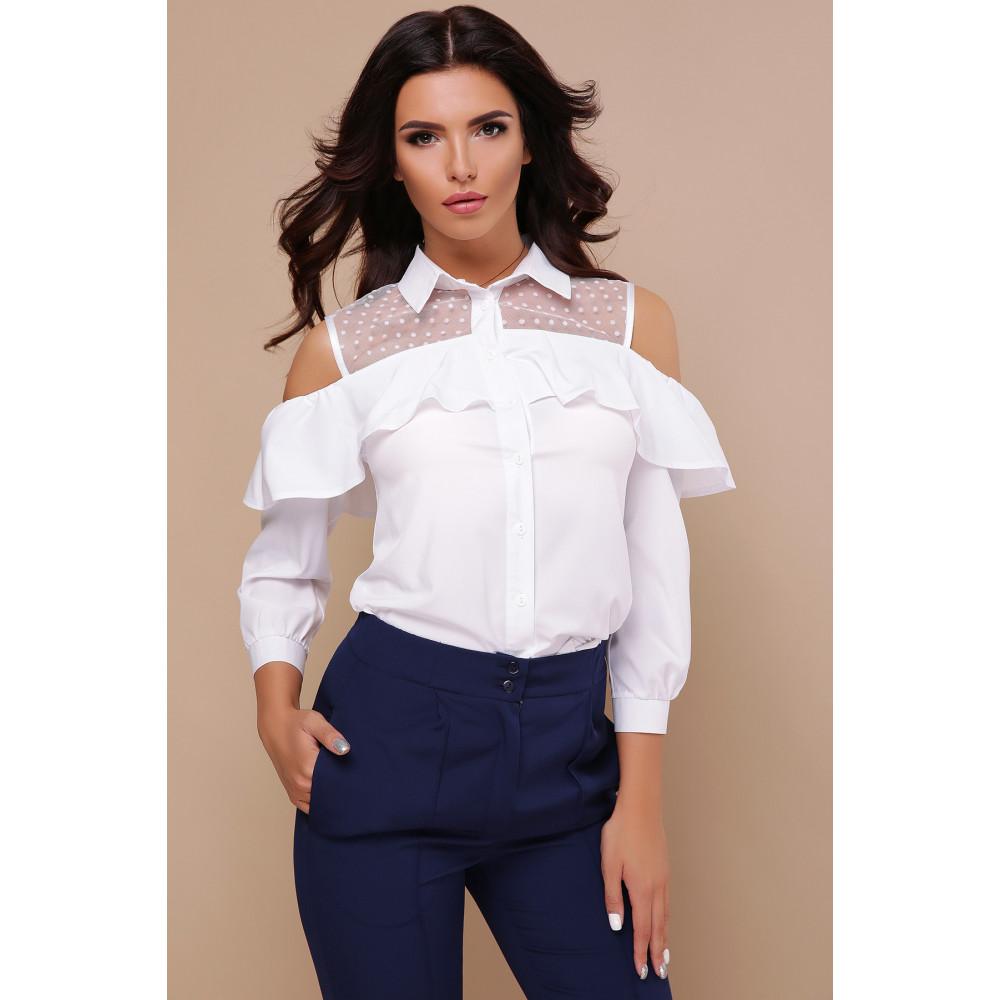 Интересная белая блузка Эрика фото 2