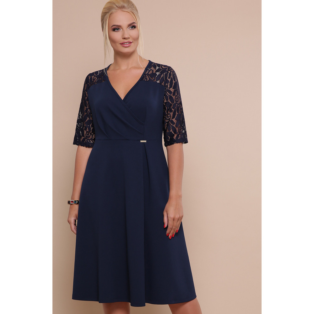 Красивое платье с кружевными рукавами Ида фото 1