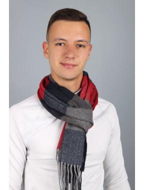 Чоловічий шарф Родерік в червону клітинку