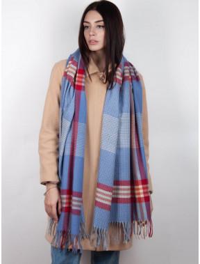 Стильний блакитний шарф Тенс