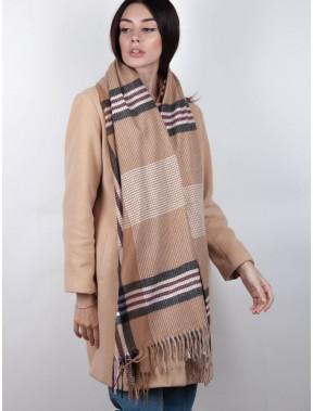 Модний бежевий шарф Тенс