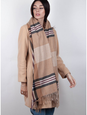 Модный бежевый шарф Тенс