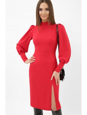 Незвичайна червона офісна сукня Айла