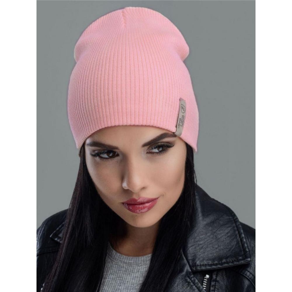 Молодежная персиковая шапка Риана  фото 1
