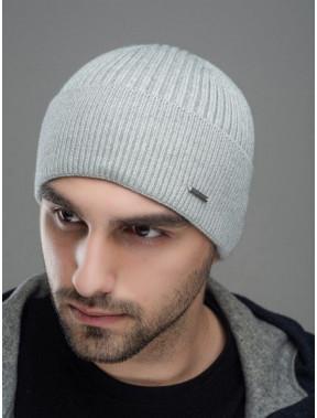Светло-серая мужская шапка Макс