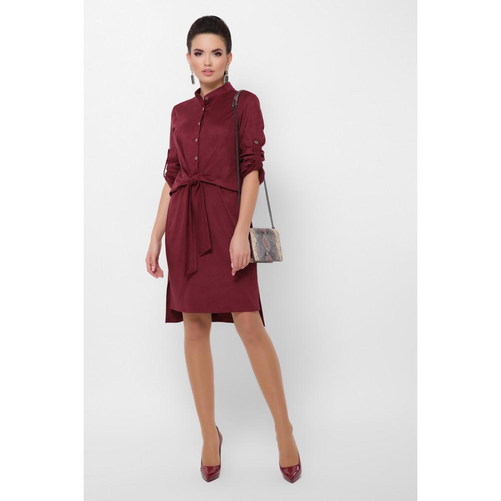 Бордовое замшевое платье Мерида фото 1