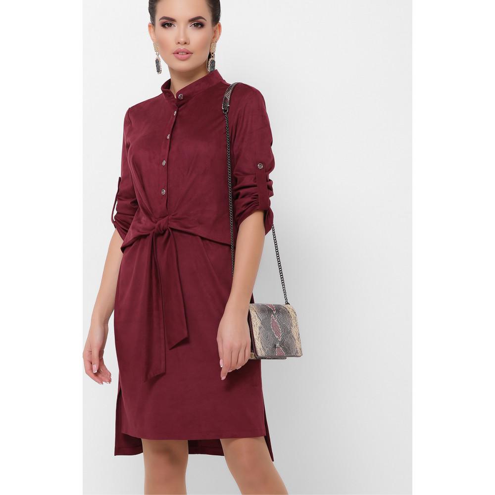 Бордовое замшевое платье Мерида фото 2