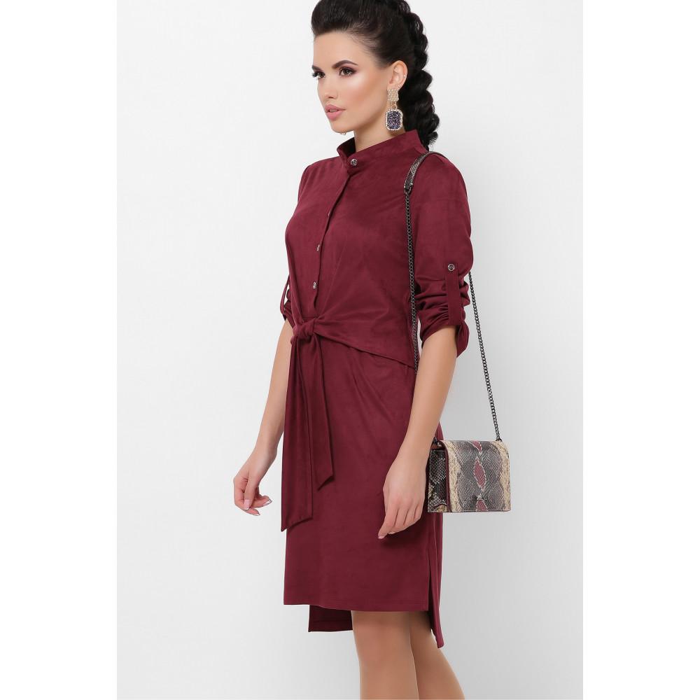 Бордовое замшевое платье Мерида фото 3