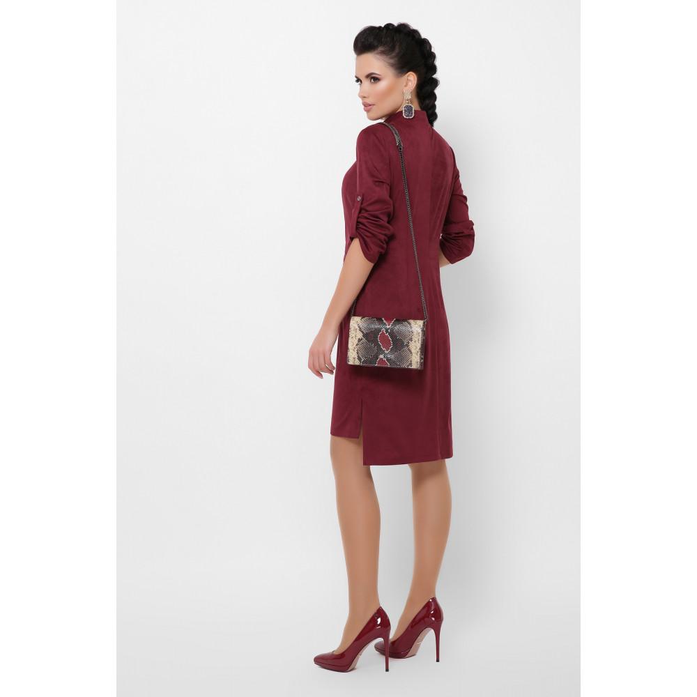 Бордовое замшевое платье Мерида фото 4