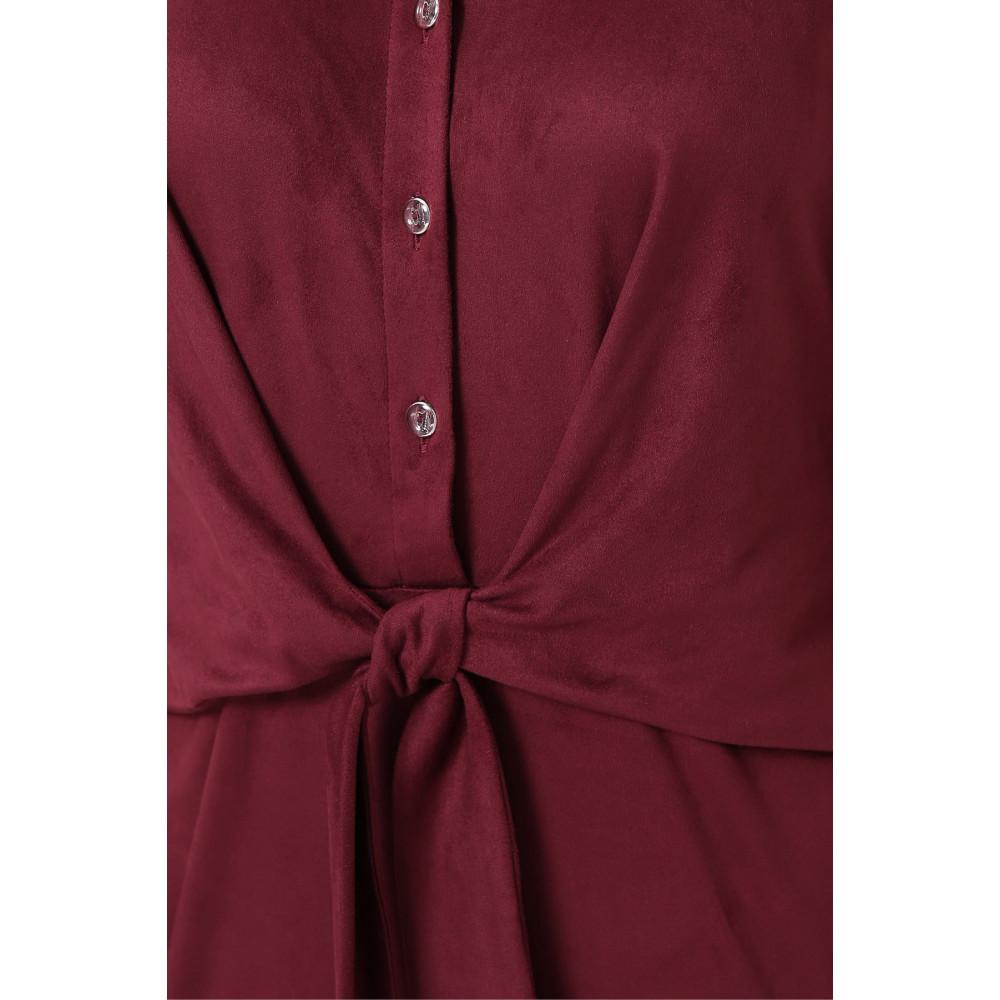 Бордовое замшевое платье Мерида фото 5